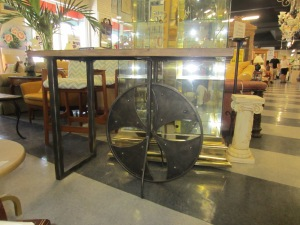 I found this Industrial Table at my favorite Consignment Shop.