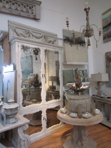 Loved this mirrored armoire!