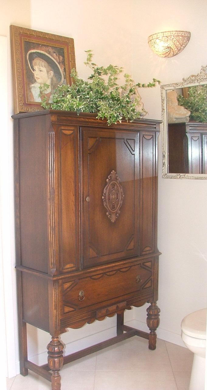 Antiques in the bathroom sarasota interior design - Antique bathroom linen cabinets ideas ...