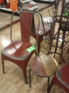 These metal chairs and table have a fun, industrial aesthetic and are reasonably priced.