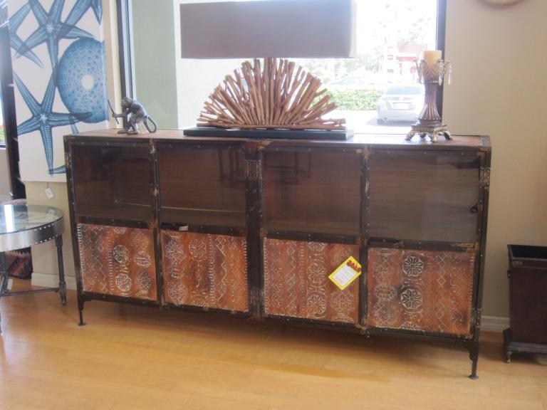 Rustic Metal and Wood Buffet